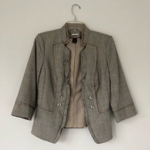 Beige blazer from White House Black Market